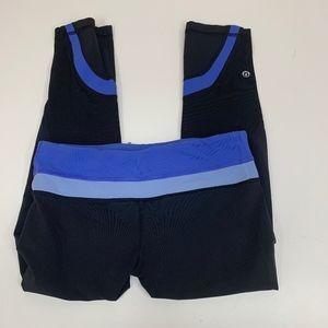 LULULEMON Run Inspire Yoga Cropped Pants 6 Black